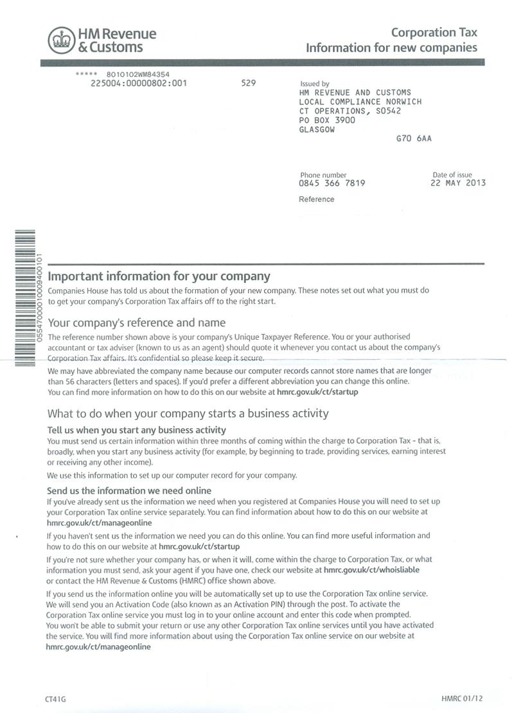 Corporation Tax Return: Hmrc Corporation Tax Return Dormant Company