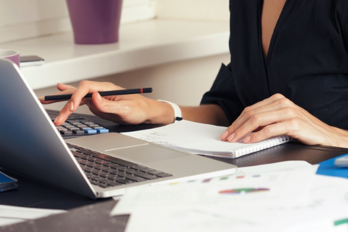 An accountant processing a company formation