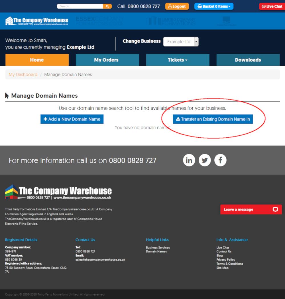 Domain Transfer Request