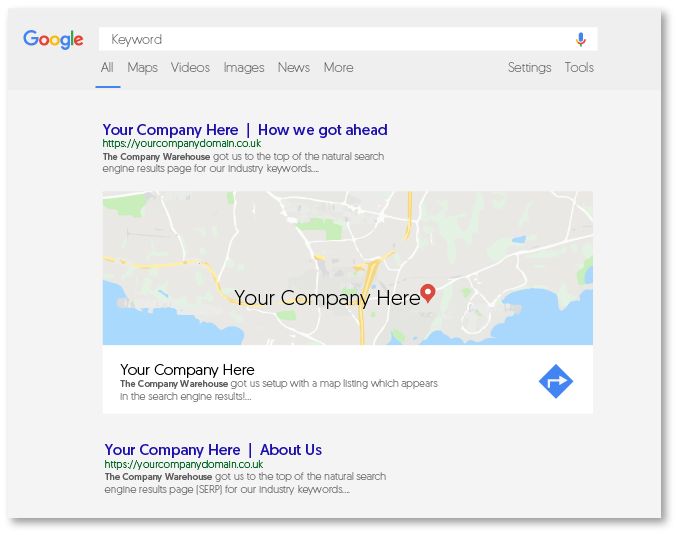 Google search result pages
