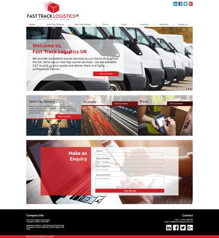 Bespoke Website Example 1 – Homepage