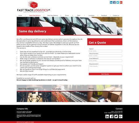 Bespoke website example 1 – Internal Page