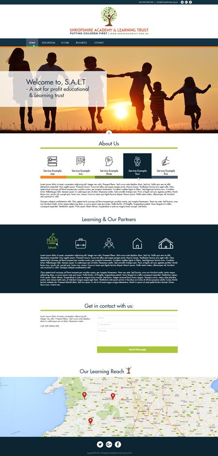 Bespoke Website Example 4 – Homepage