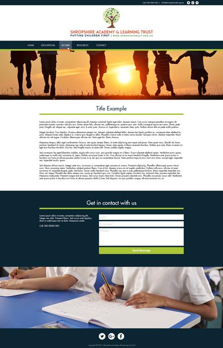Bespoke website example 4 – Internal Page