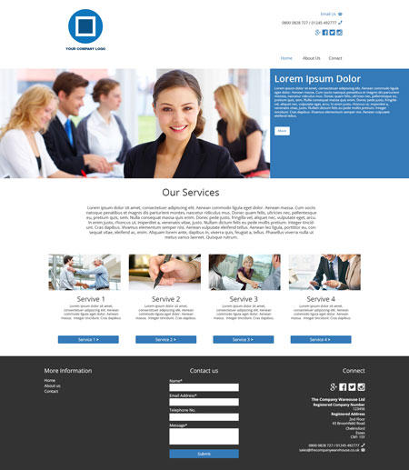 Consultancy Website Layout – Homepage