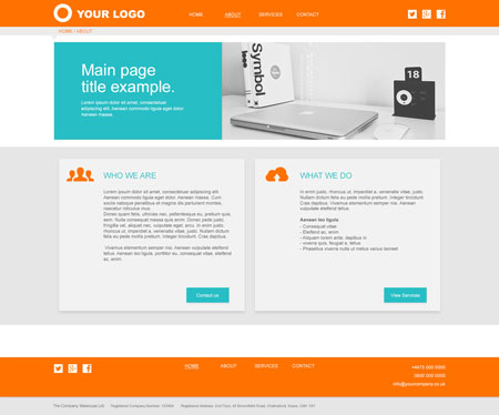 Services Website Layout 1 – Internal Page