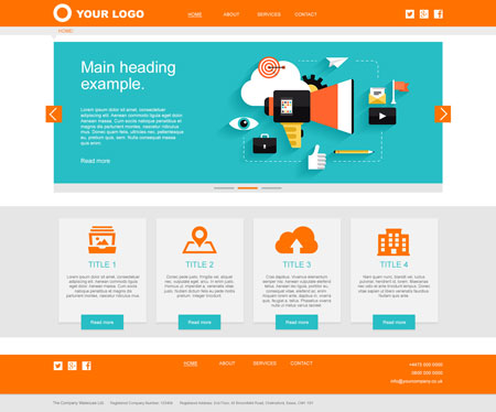 Services Website Layout 1 – Homepage