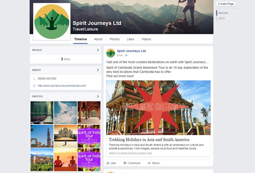 Spirit Journeys Social Media Facebook
