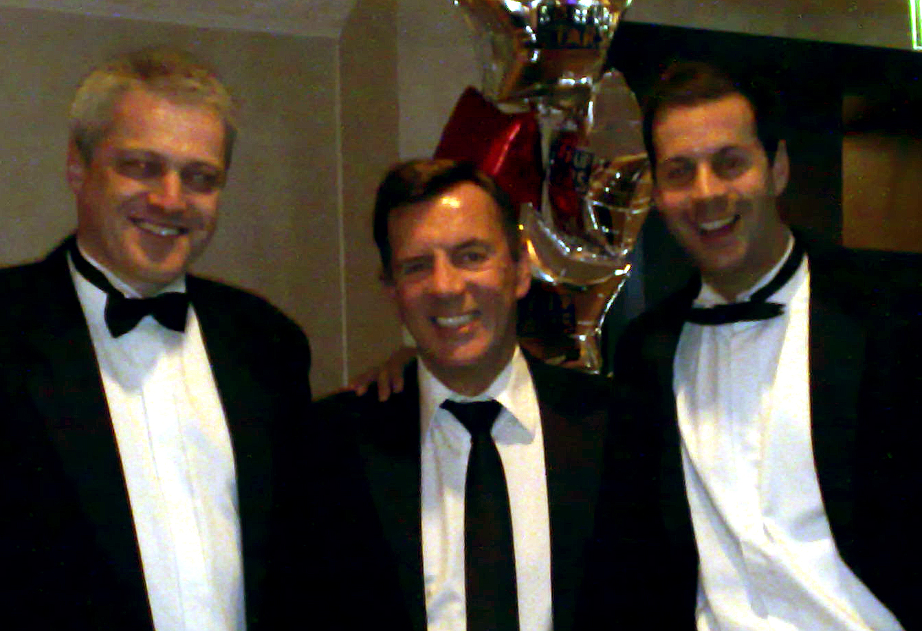 Richard Jobling with Duncan Bannatyne and Ian Lyons