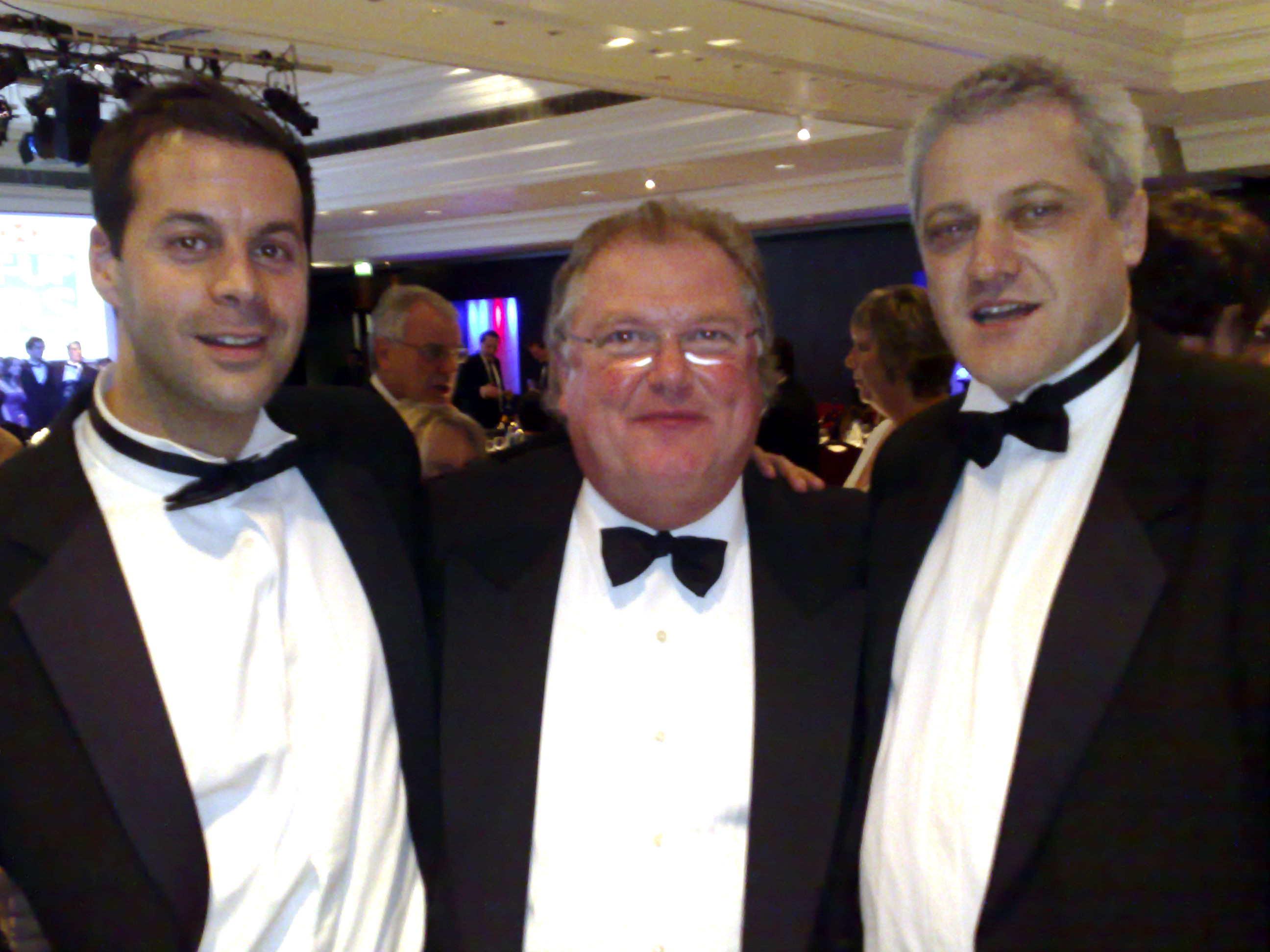 Lord Digby Jones with Richard Jobling and Ian Lyons of The Company Warehouse