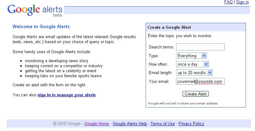 Google-Alert