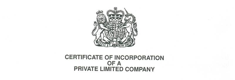 certificate of incorporation seal