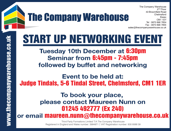 Chelmsford Startups Seminar and Networking