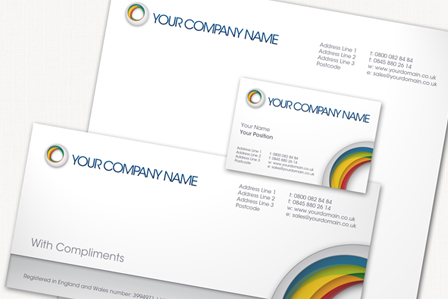 Business stationery with registered company details